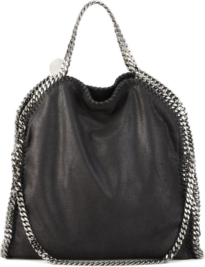Stella McCartney Fold-Over Falabella, Black I want this bag in my life :)