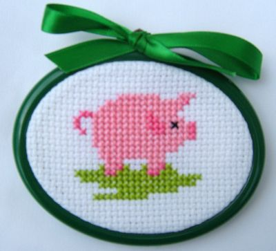 Pig - Fun Stitch Wildlife Cross Stitch Kit by Daisy Designs; turn this on its side to bead loom