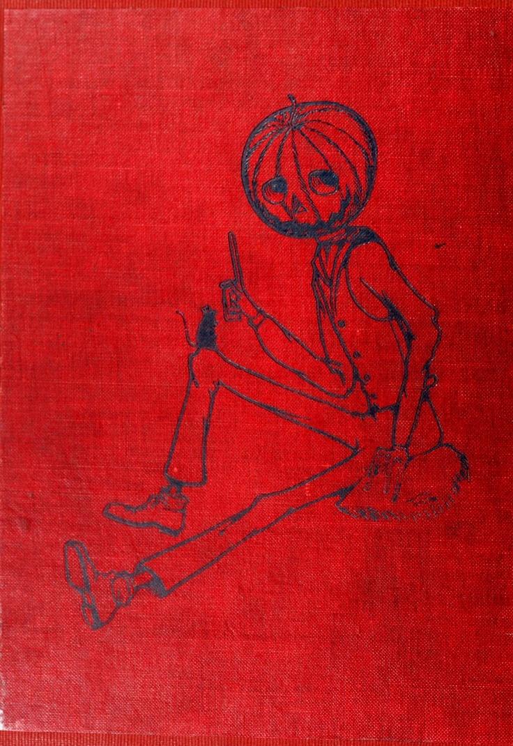 Vintage Halloween Ephemera ~ Jack O' Lantern Pumpkin Man Illustration from Children's Book ©1914: Halloween Illustrations, Book 1914, Children Books, Anthropomorphic Halloween, Children S Illustrations, Halloween Ephemera
