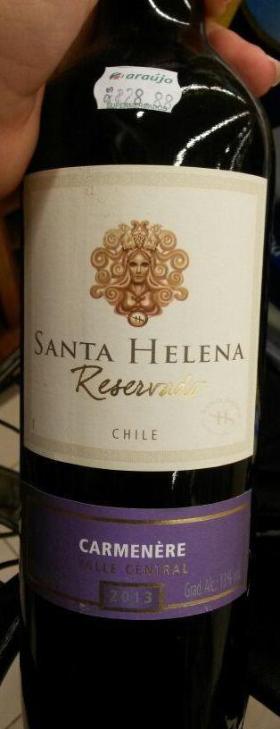 Carmenérè chileno 2013 - Santa Helena. Mais encorpado que o vinho produzido com a mesma uva pela Concha Y Toro
