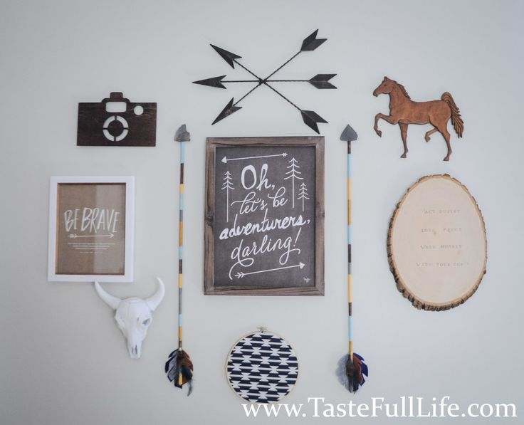 Adventure-Themed Gallery Wall in the Nursery - love the travel decor! | Project Nursery