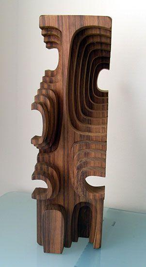 wooden sculpture by Brian Willsher (c.1980)