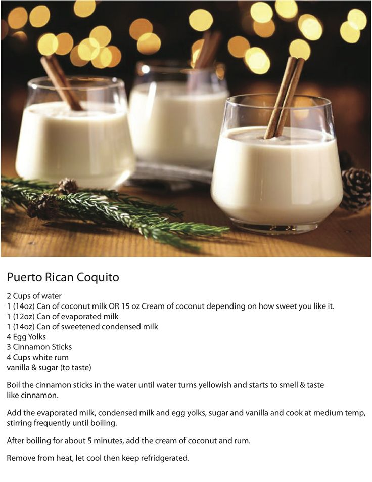 Puerto Rican Coquito - (with egg yolks)