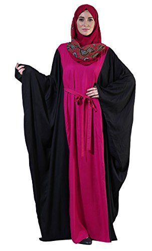 Fushia Color Block Rayon Tie Kaftan -- You can find out more details at the link of the image.