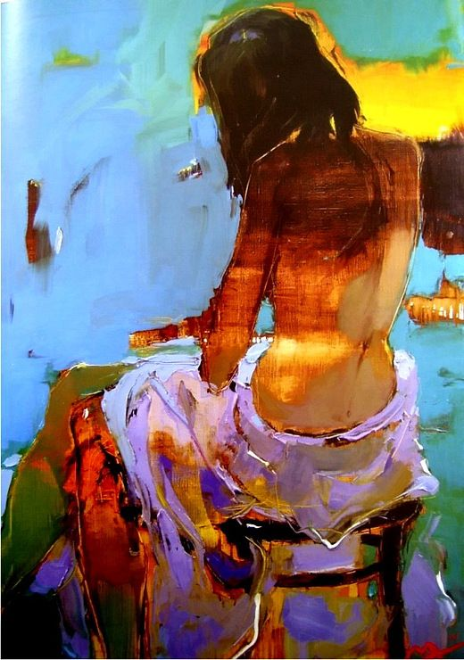 Alina Maksimenko. Absolutely love the colorsArt Inspiration, Figures Studiesportrait, Figures Painting, Alina Maksimenko, Alinamaksimenko, Weights Loss, Art Figures, Art Painting, Colors Inspiration