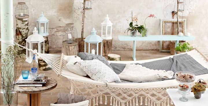 `Decor, Indoor Hammock, Outdoor Living, Hammocks, Outdoor Hammock, Gardens, Places, Patios, Outdoor Spaces