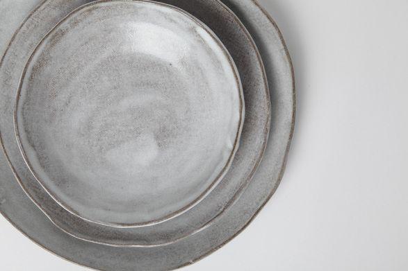 Akiko's Pottery Slab Round Dinner Plate