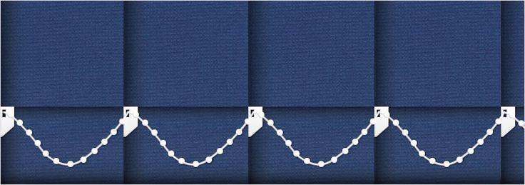 Shade Royal Blue Vertical Blinds - Wide
