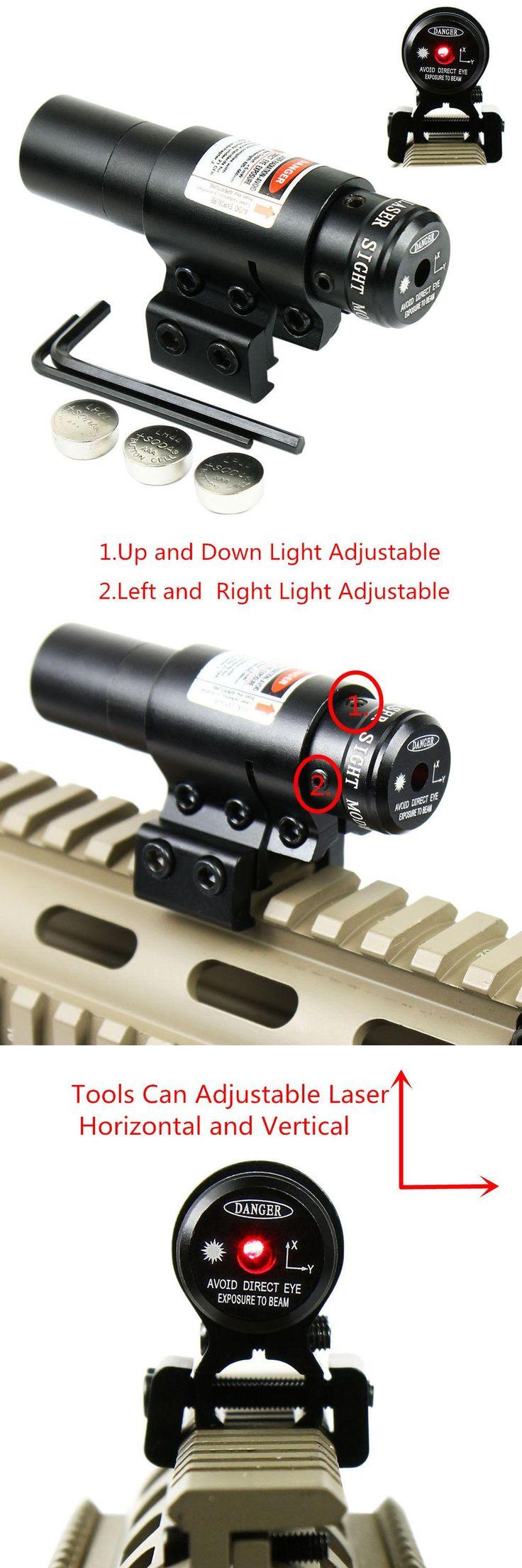 [Visit to Buy] Hunting Tactical Optics Red/Green Dot Laser Airsoft Air Guns Sniper Pistola Red Dot Laser Sight Adjust 11/20mm Picatinny Rail #Advertisement