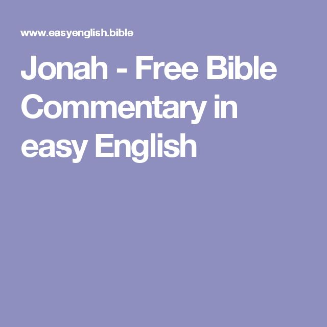 Jonah - Free Bible Commentary in easy English