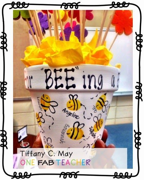 "One Fab Teacher: Thank you for ""bee""ing a FAB room mom."