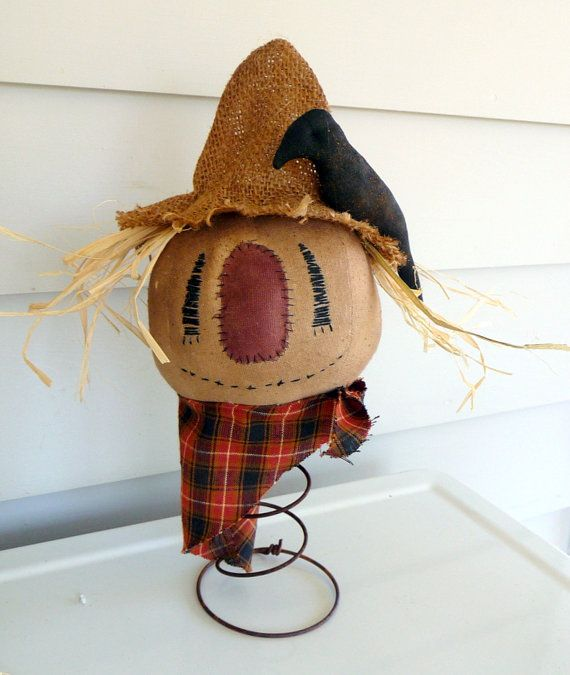Primitive Scarecrow  Doll Fall decoration nodder by ahlcoopedup