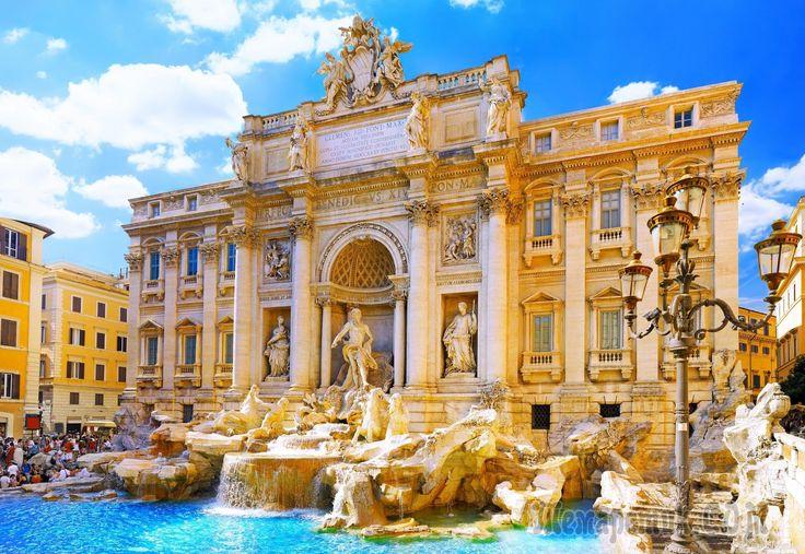 Фонтан Треви и площадь Венеции. Рим, Италия