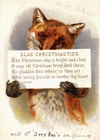 Foxes were cool way before The Fantastic Mr. Fox—at least if you're judging from this card, circa 1900.
