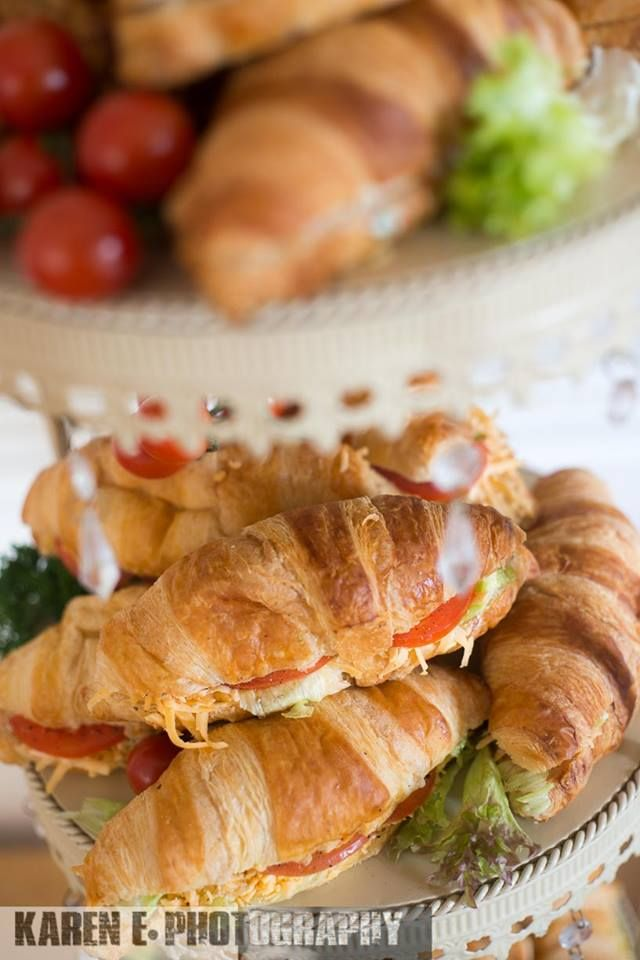 Some vegetarian croissants with cheese and tomatoe prepared by @chccateringsa for the @calderwoodsa Bridal Open Day - photo by Karen Edwards https://www.facebook.com/karen.edwards.98096721