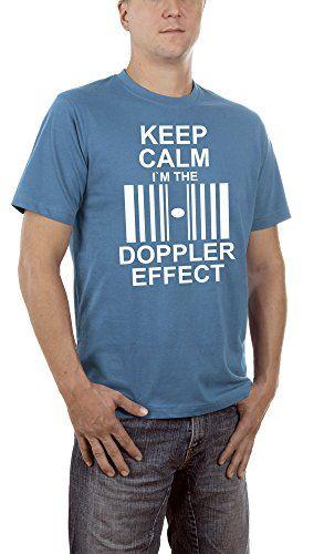 Touchlines Keep Calm I`m the Doppler Effect-Camiseta Hombre    Blau (Steelblue 15) XXX-Large #camiseta #starwars #marvel #gift