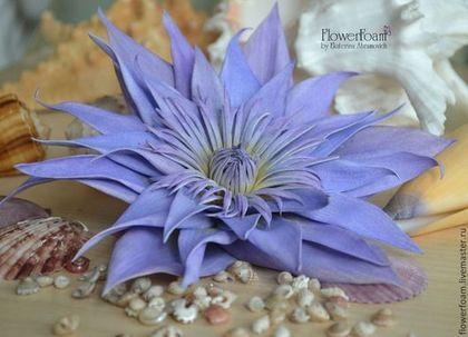 """Цветы из фоамирана. Лотос """"Нимфея"""" - фиолетовый,фоамиран,фом,цветы ручной работы"""