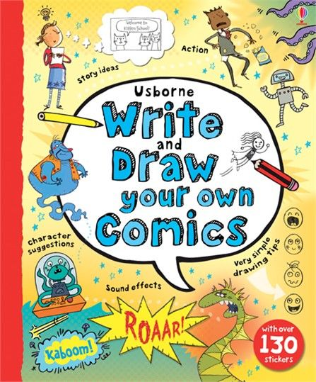 'Write and draw your own comics' from Usborne | #children's #books #new #October #DIYcomics #comicstrips #comics #creative #activities