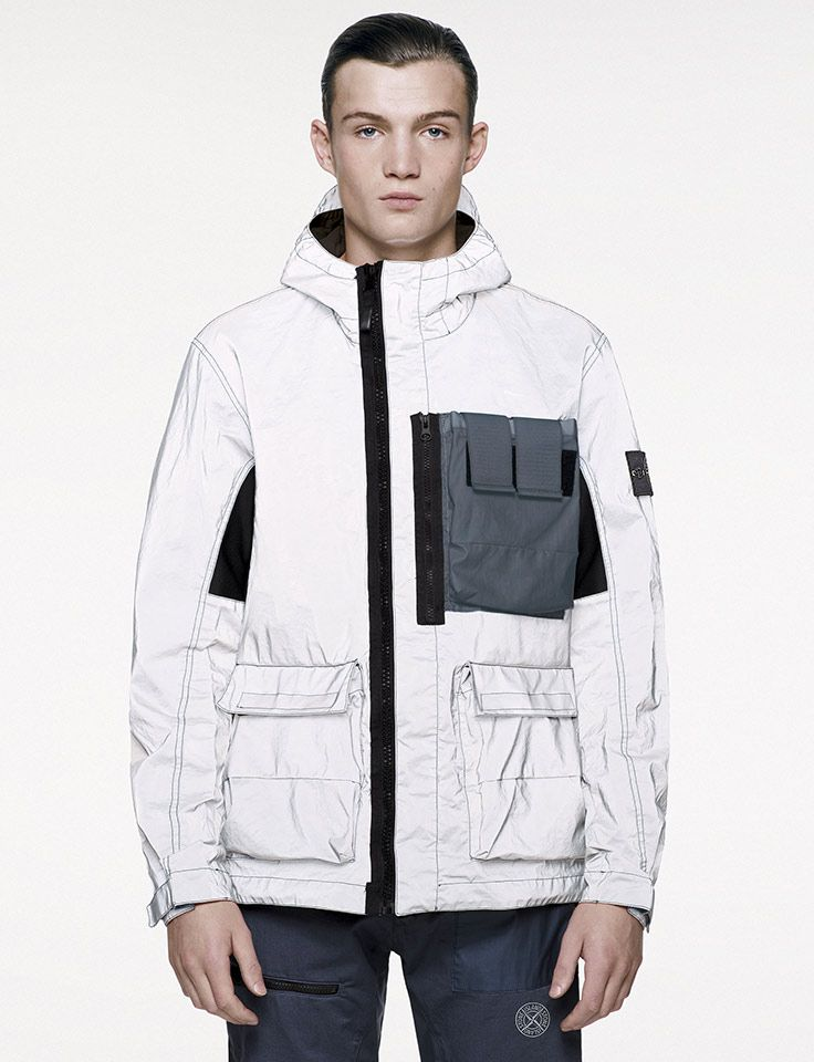 Stone Island _ SS '017_ 453S6 Garment Dyed Plated Reflective with Mussola Gommata _ StoneIsland.com
