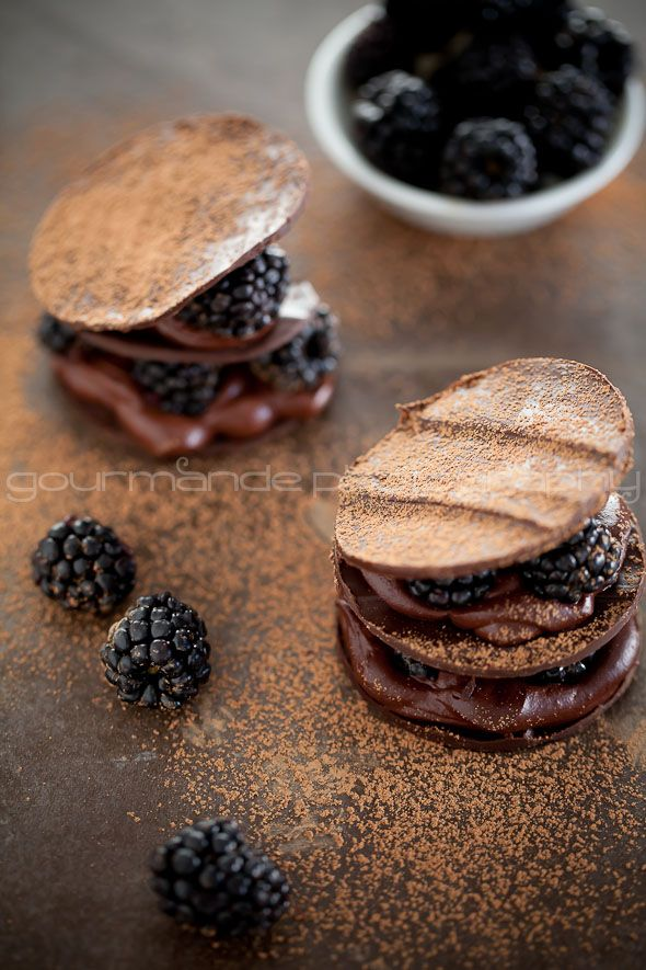 Chocolate Blackberry Mille-Feuille | For the Love of Chocolate from @Sylvie | Gourmande in the Kitchen