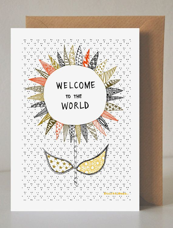 Welcome to the World, Greeting Card New Baby Celebration