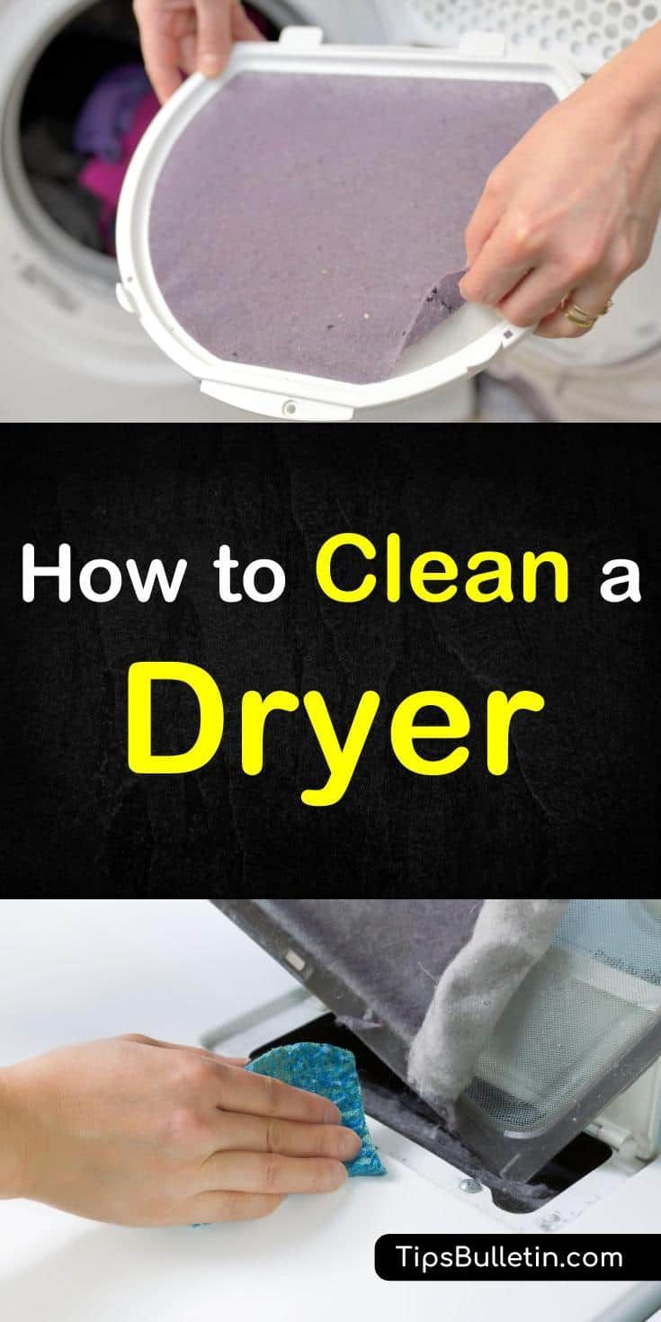 4 Handy Ways To Clean A Dryer Clean Washing Machine Deep Cleaning Tips Cleaning