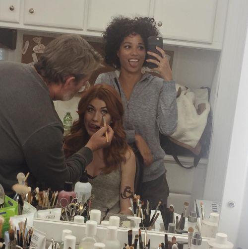 11/8/16: BTS of Kat and Alisha on the set from Alisha's Takeover