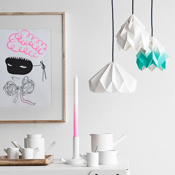 The Story Behind Studio Snowpuppeu0027s Origami Inspired Lampshades Is About  The Fascination Of Paper And Light.