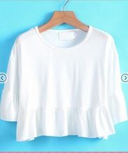 Women New Designs Ruffle Loose Crop Top/Tee Wholesale  best seller follow this link http://shopingayo.space
