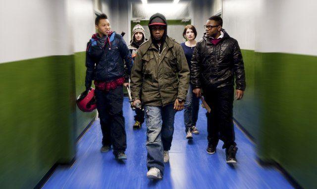 Still of Jodie Whittaker, Franz Drameh, Alex Esmail, Leeon Jones and John Boyega in Attack the Block (2011)