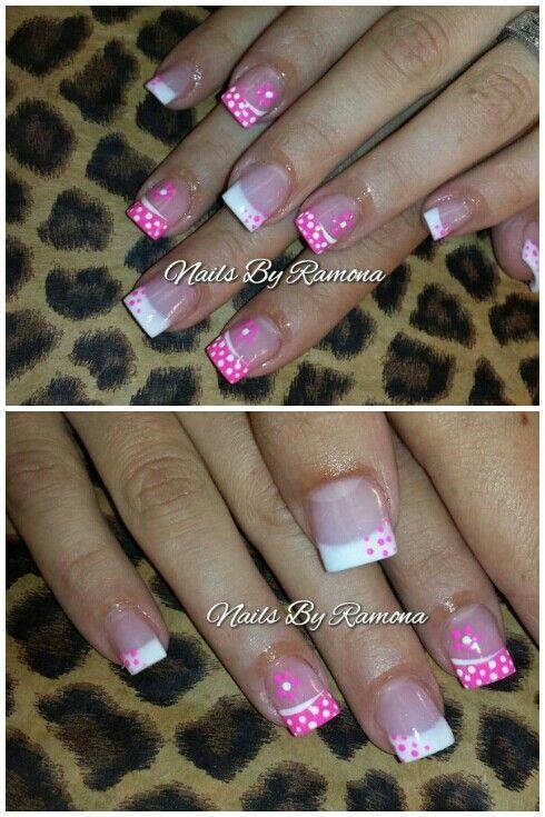 Acrylic nails with nail art. Nails By Ramona