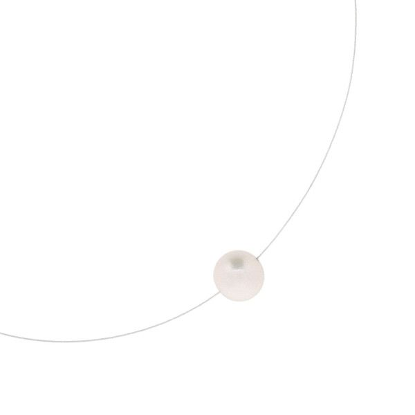 Single White Pearl Necklace : Simple but captivating. The very first product made for The Courthouse Collection is still a best seller. One stop necklace for every occasion and every outfit. White Freshwater Pearl, sterling silver signature fish clasp. Gifts for her, bridal jewelry, womens jewelry, pearl necklace