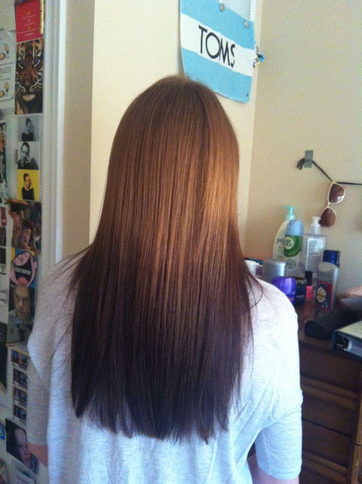 reverse ombre hair tumblr hair pinterest bunte haare bunt und haar. Black Bedroom Furniture Sets. Home Design Ideas