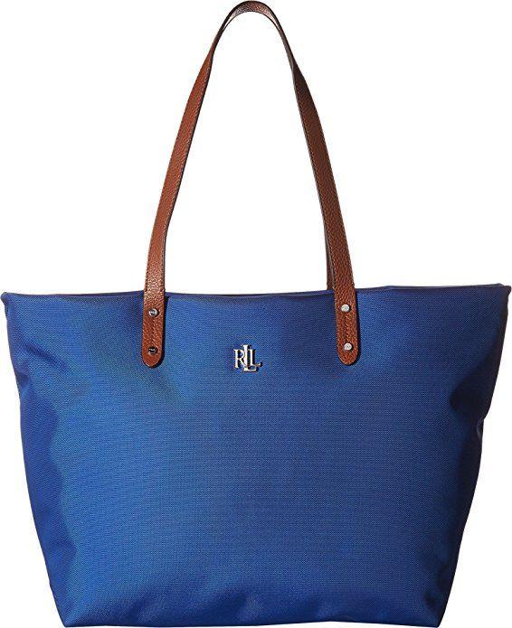 LAUREN Ralph Lauren Women s Bainbridge Nylon Tote Cobalt One Size designer  handbags spring handbags handbag fashion 1dd899f4f99f6
