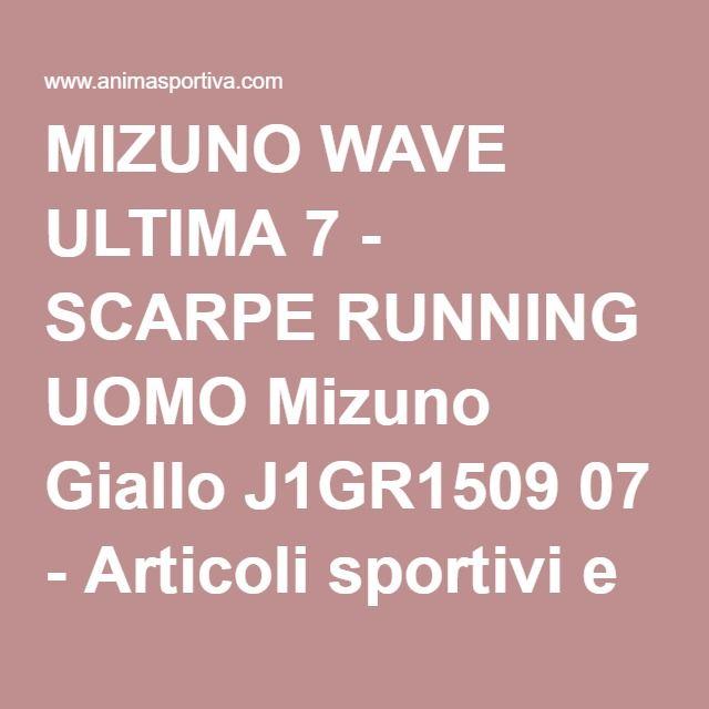 MIZUNO WAVE ULTIMA 7 - SCARPE RUNNING UOMO Mizuno Giallo J1GR1509 07 - Articoli sportivi e abbigliamento sportivo