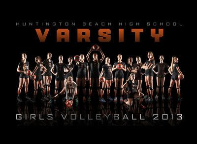 2013 Girls Varsity Volleyball Team Composite by Kendra Koelsch - HBHS Photography