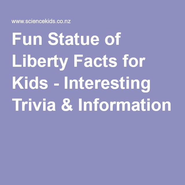 Fun Statue of Liberty Facts for Kids - Interesting Trivia & Information