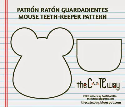 TheCuteWay: Ratoncito guardadientes - Mouse teethkeeper