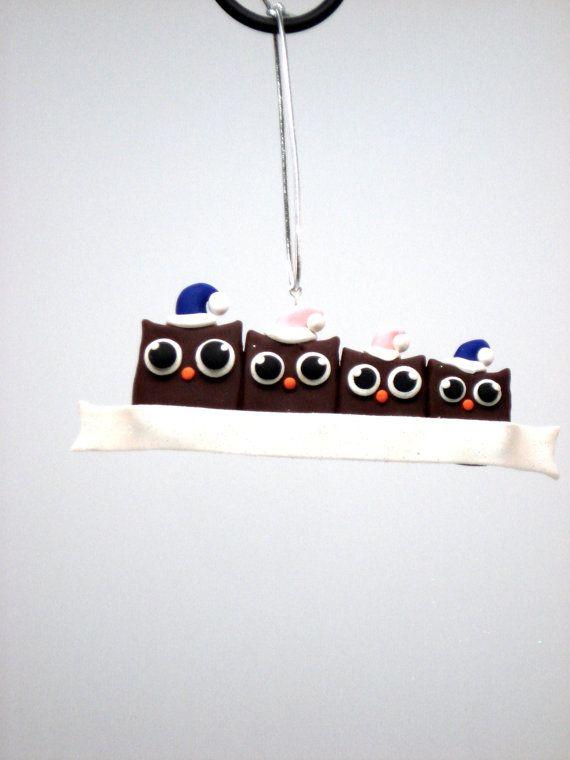 Personalizzato ornamento famiglia gufo famiglia di MagicalGifties