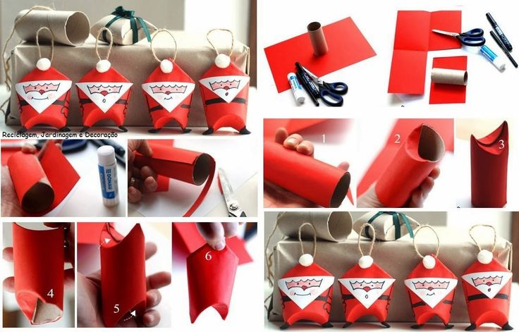 Imagen adornos-navidenos-reciclados-paso-a-paso-papa-noel del artículo Decoración Navideña con Materiales Reciclados