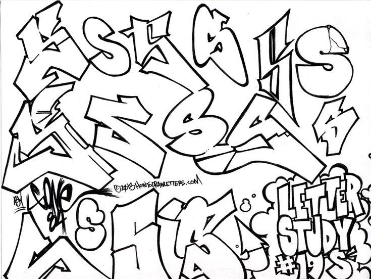 Graffiti Style Letter S Letter Study
