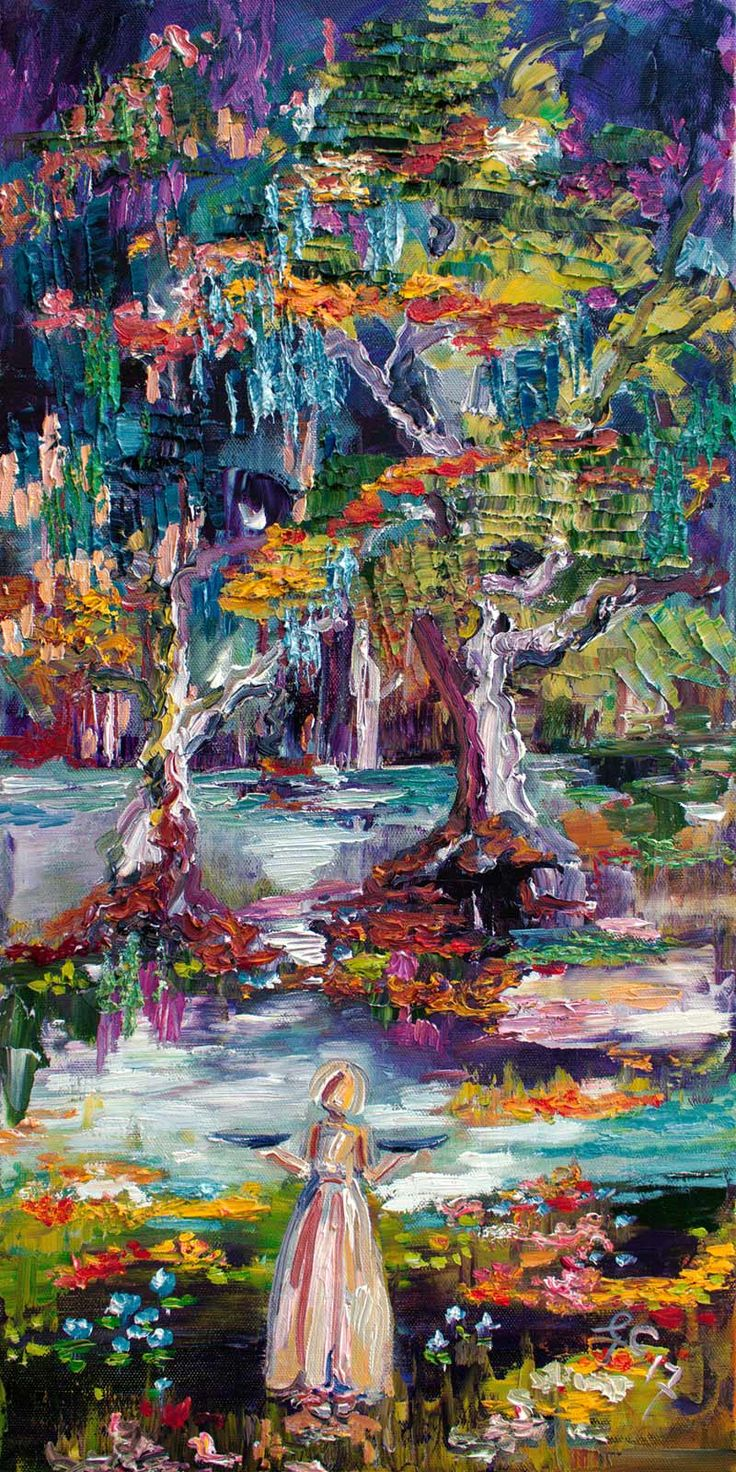 Summer In The Garden Of Good And Evil #Savannah #Bird #Girl #Oil #Painting Textured Canvas