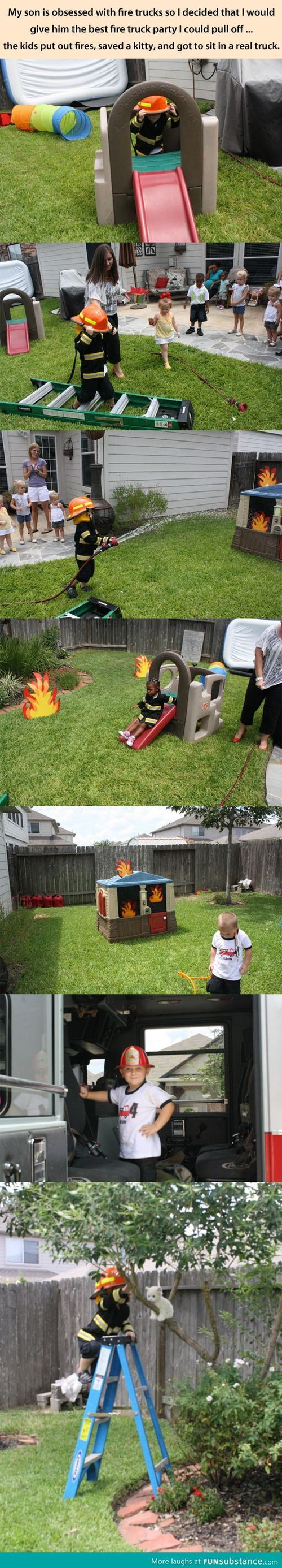 Fireman birthday party - Best idea ever!!! So cute!!!!