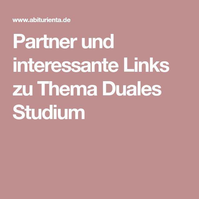 Partner und interessante Links zu Thema Duales Studium