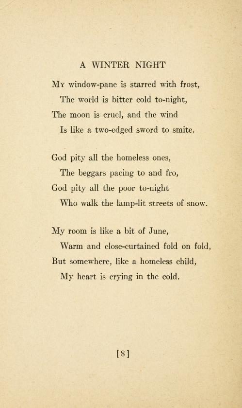 Love songs by Sara Teasdale