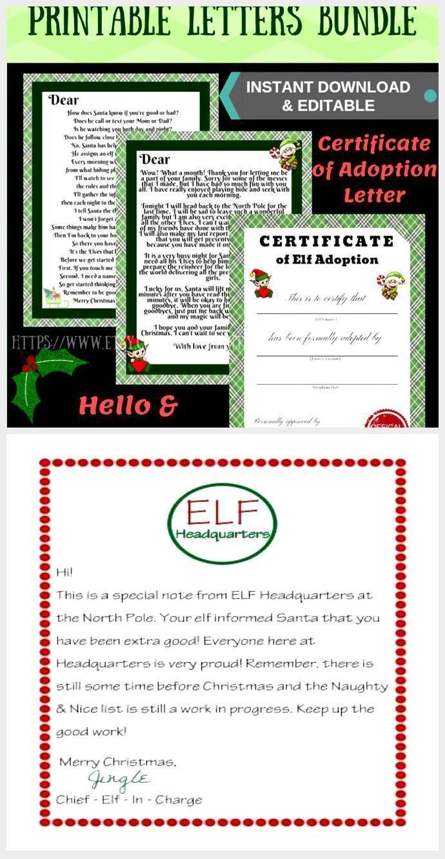 Editable NEW Elf on the Shelf Arrival Letter, Goodbye