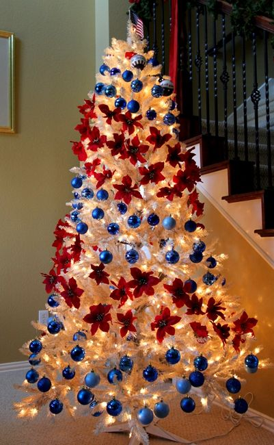 Red, white and blue Christmas tree (Patriotic)