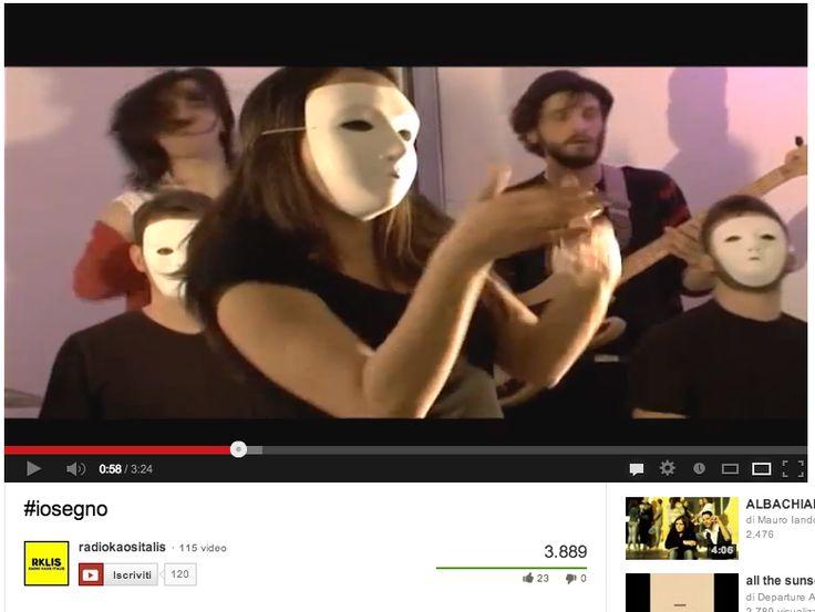 Video #iosegno a favore del riconoscimento della Lingua dei Segni Italiana promossa da Radio Kaos Italis