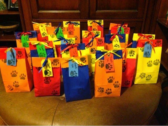 Bolsitas de papel para las sorpresas
