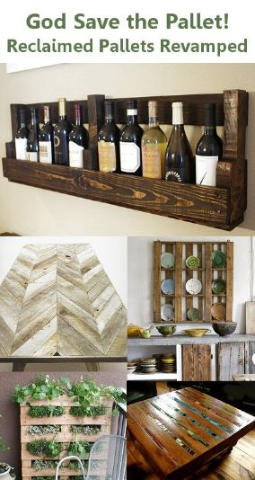 Cool pallet projects! Love the wine rack and mosaic table.